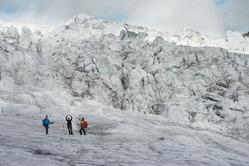 Glacier trekking on the Pasterze